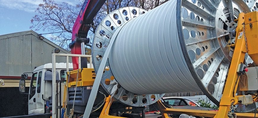 Photo of Aussie Trenchless Supplies' SRP EXP rehabilitation system sent to South America