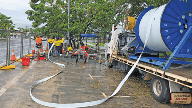 Photo of Aussie Trenchless demonstrating solutions at No-Dig Down Under